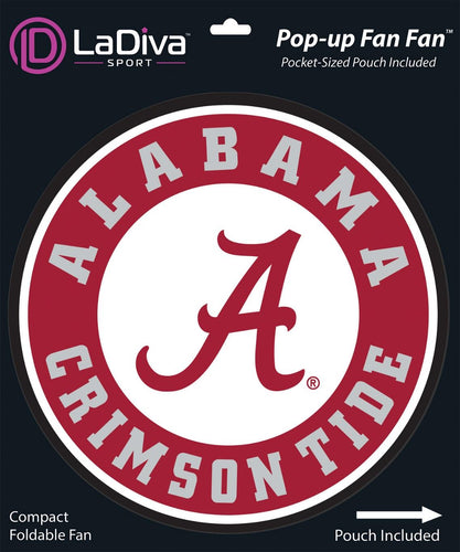 Pop-Up Fan Fan with Pouch-University of Alabama