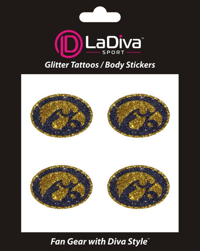Body, Face and Purse Sticker Tattoos-University of Iowa