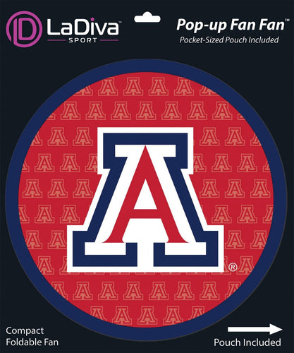 Pop-Up Fan Fan with Pouch-University of Arizona