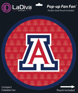 Pop-Up Fan Fan with Pouch-University of Arizona ~ UA Wildcats