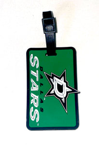 Dallas STARS NHL Licensed SOFT Luggage BAG TAG~ Green and White