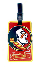 FLORIDA STATE University Seminoles NCAA Licensed SOFT Luggage BAG TAG~ Maroon and Gold