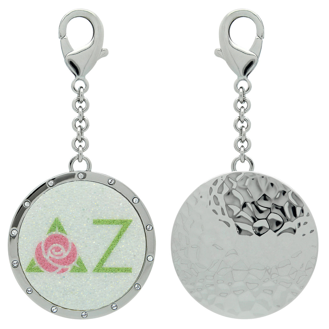 Delta Zeta DZ Swarovski Crystal Sorority Greek Dangle Charm~ Pink & Green