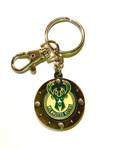 Milwaukee BUCKS NBA Logo IMPACT KEYCHAIN
