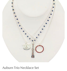Auburn Trio Necklace Set ~ Officially licensed