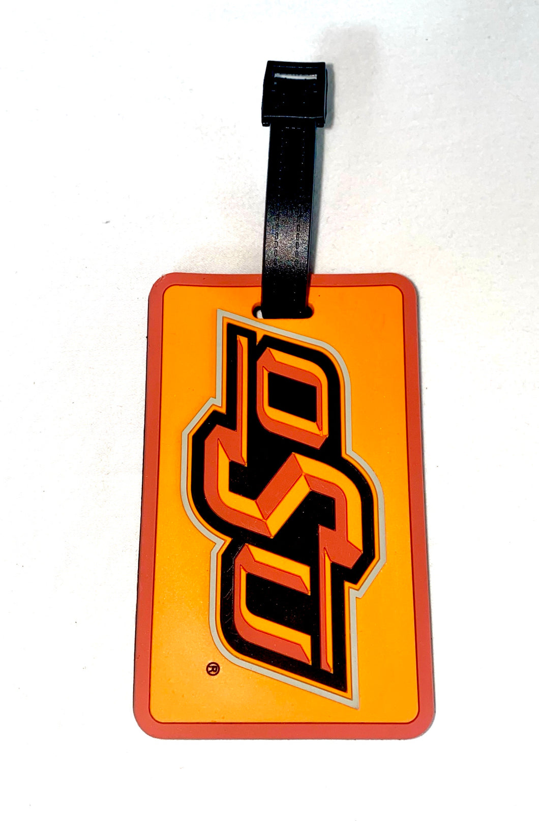 OKLAHOMA STATE OSU NCAA Licensed SOFT Luggage BAG TAG ~ Orange and Black