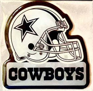"Dallas COWBOYS 3"" FOOTBALL HELMET MAGNET NFL Licensed"