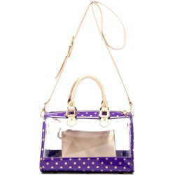 Moniqua Clear Satchel - Royal Purple and Gold