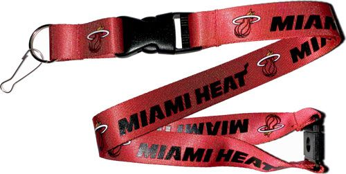 Miami Heat Officially NBA Licensed Logo Red and Black Team Lanyard