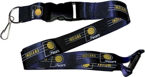 Indiana Pacers Officially NBA Licensed Blue and Gold Yellow Logo Team Lanyard
