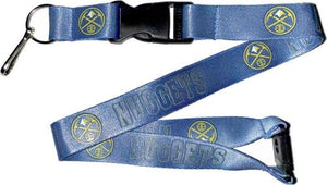 Denver NUGGETS Officially NBA Licensed Blue Logo Team Lanyard