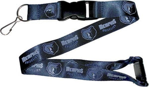 Memphis Grizzlies Officially NBA Licensed Light Blue, Navy Blue and Yellow Gold Logo Team Lanyard