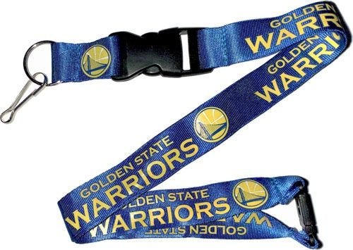 Golden State Warriors Officially NBA Licensed Blue and Gold Logo Team Lanyard