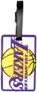 LA LAKERS NBA Licensed SOFT Luggage BAG TAG ~ Purple and Gold