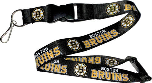 Boston Bruins Officially NHL Licensed Logo Black and Gold Team Lanyard