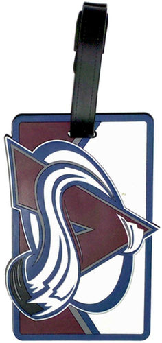 Colorado AVALANCHE NHL Licensed SOFT Luggage BAG TAG