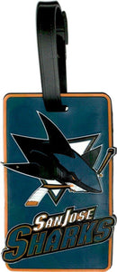 San Jose SHARKS NHL Licensed SOFT Luggage BAG TAG