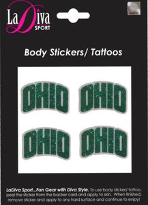 Body, Face and Purse Sticker Tattoos-Ohio University
