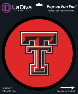 Pop-Up Fan Fan with Pouch-Texas Tech University