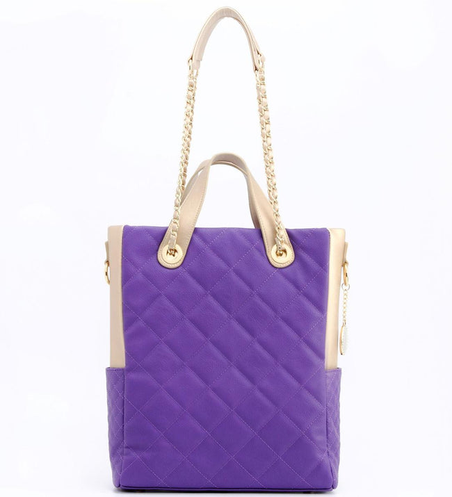 Kathi Travel Tote - Royal Purple and Gold