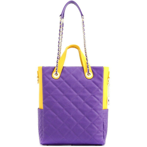 Kat Travel Tote - Royal Purple and Yellow Gold