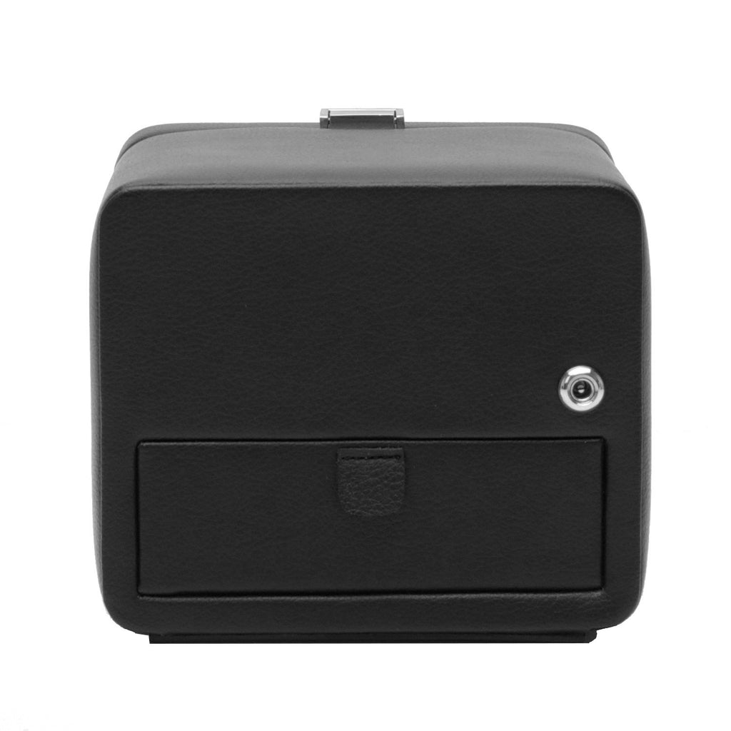 Wolf Windsor Single Watch Winder with Cover - Black