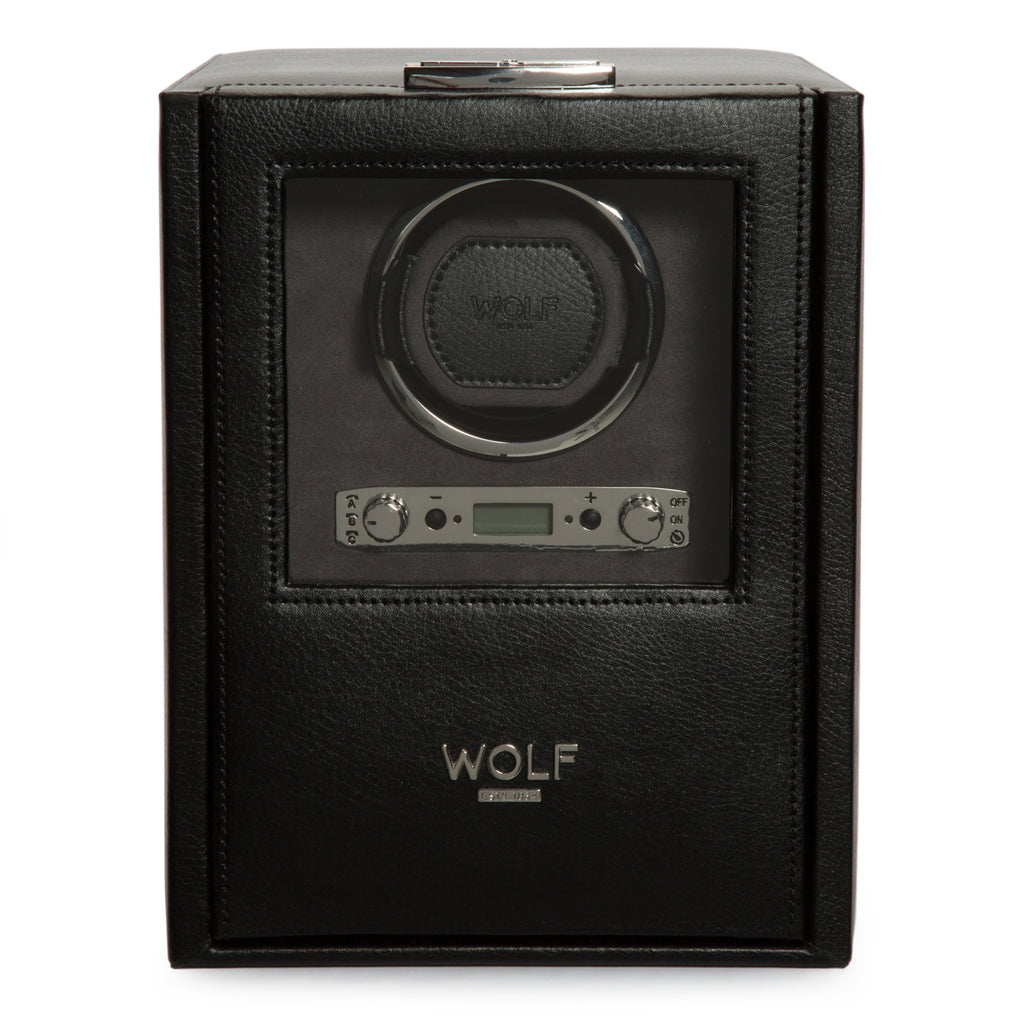 Wolf Blake Single Winder with Storage - Black