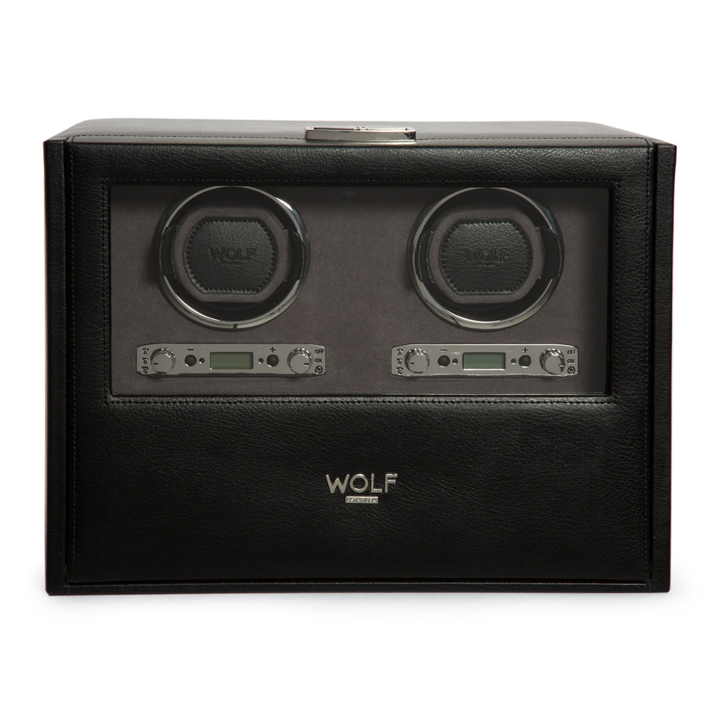 Wolf Blake Double Winder with Storage - Black