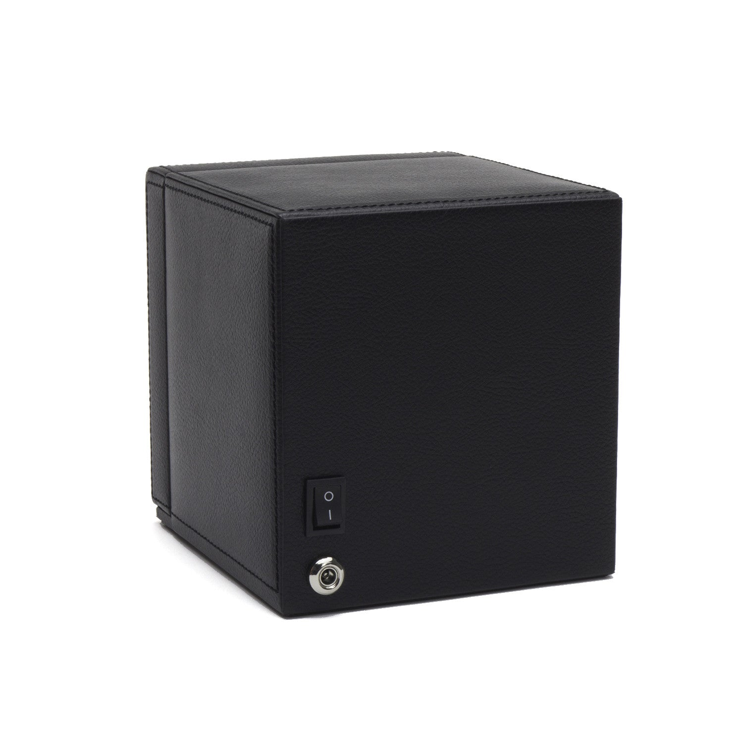 Wolf Cub Watch Winder Box With Cover Black