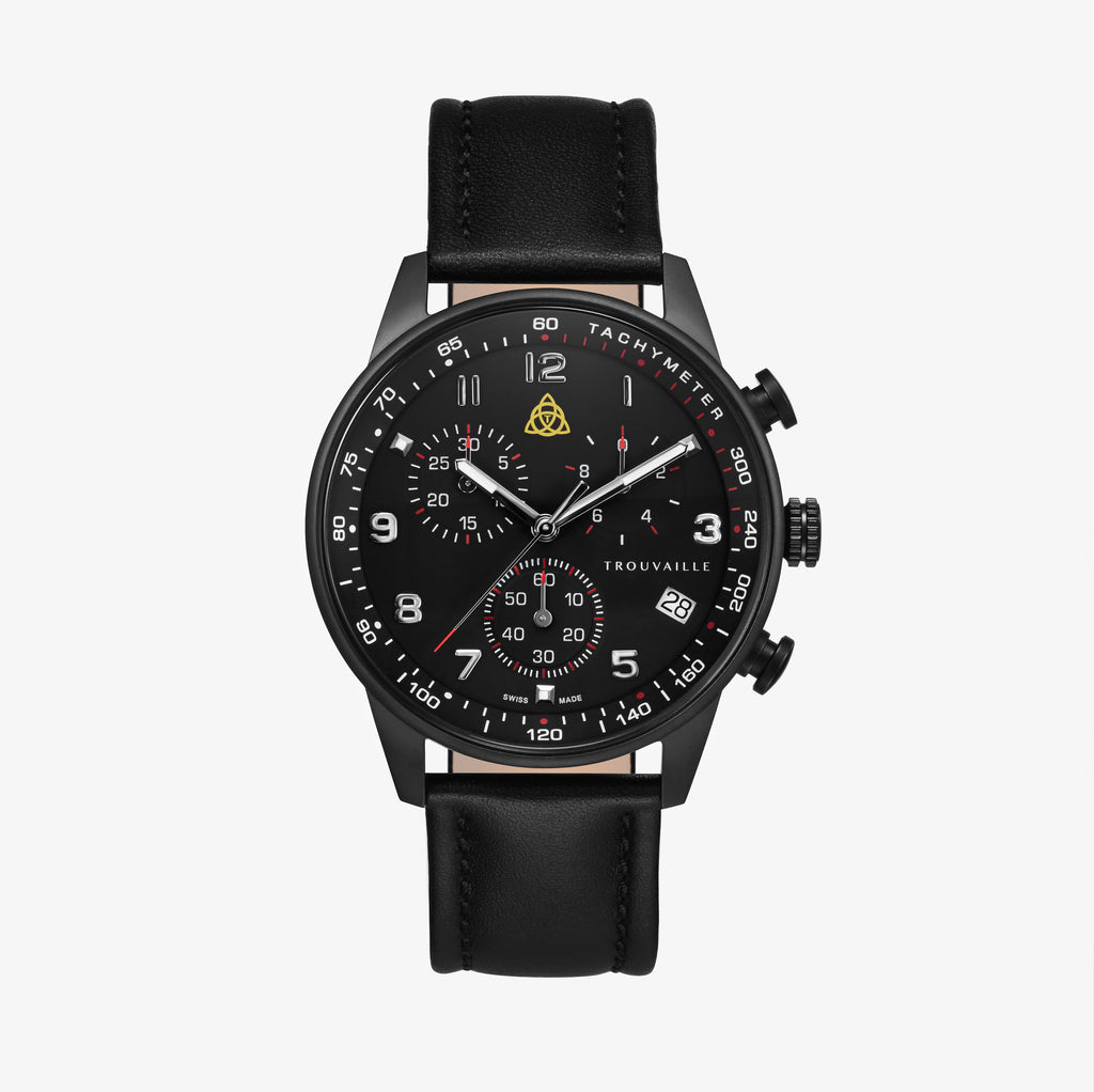 Black Aviator - Chronograph Watch