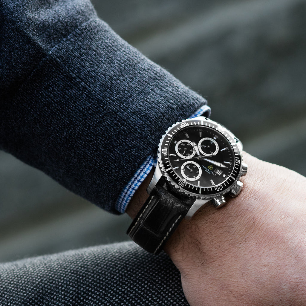 Captain - Black Chronograph Watch