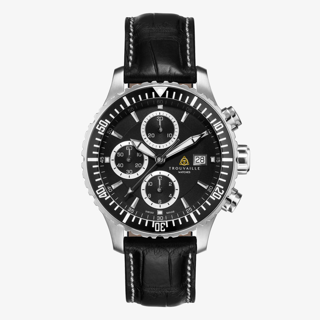 Black Captain Chronograph Automatic Watch