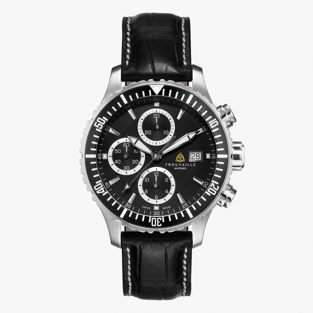 Captain - Limited Edition Black Automatic Chronograph Watch