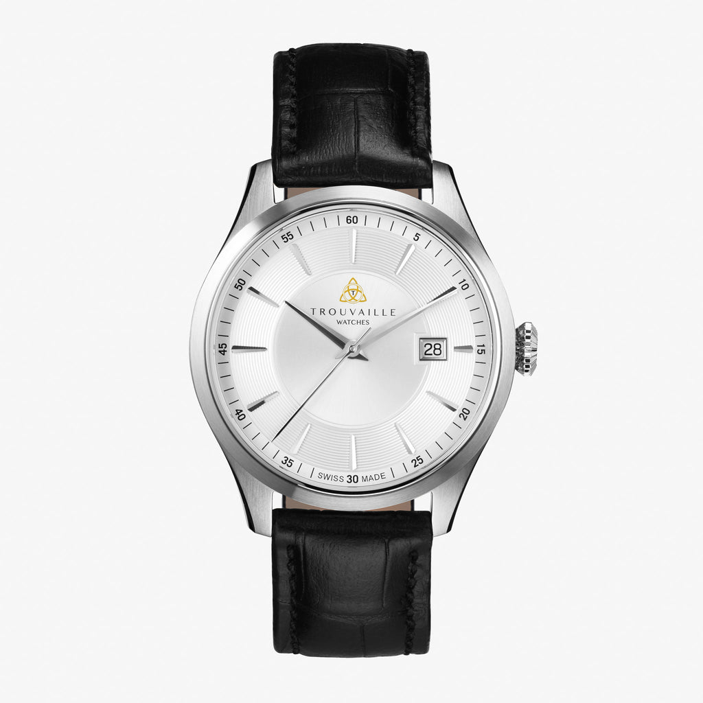 White Classic Index Automatic Watch