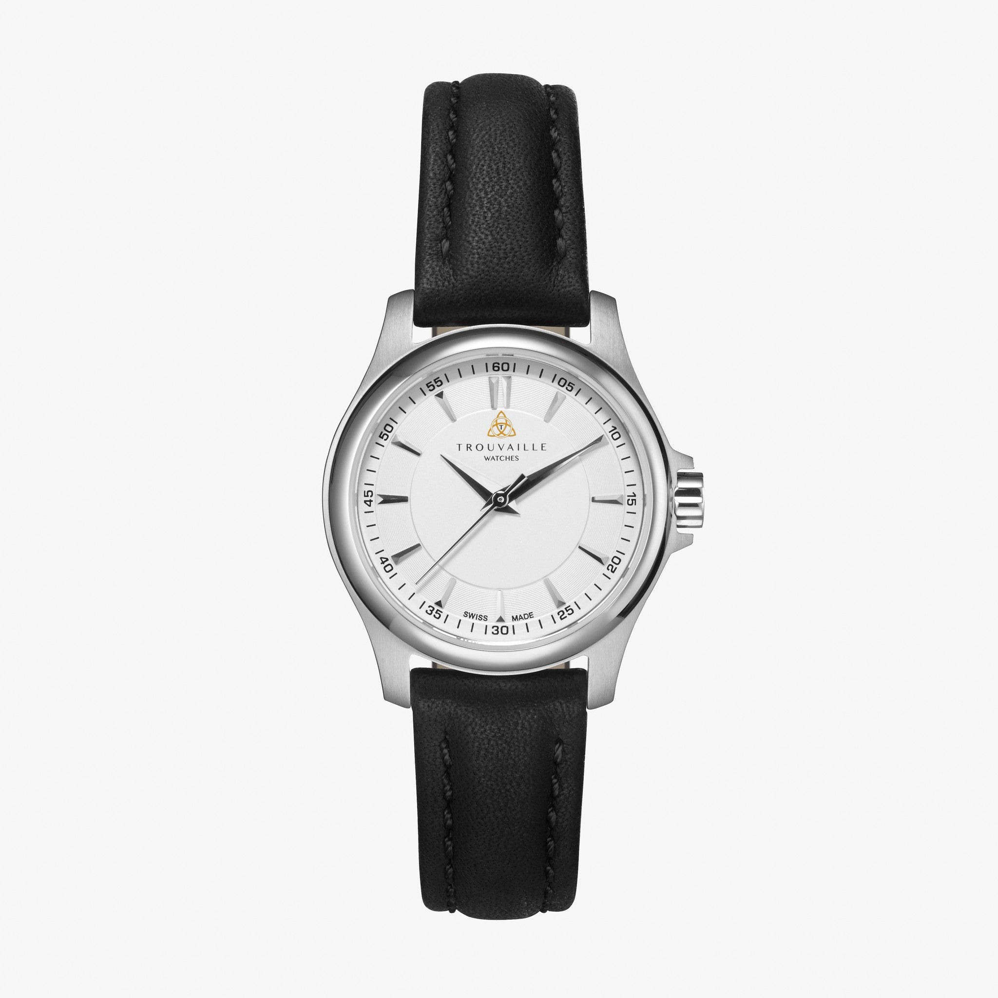 products trouvaille watches women black index s dial classic lady watch white