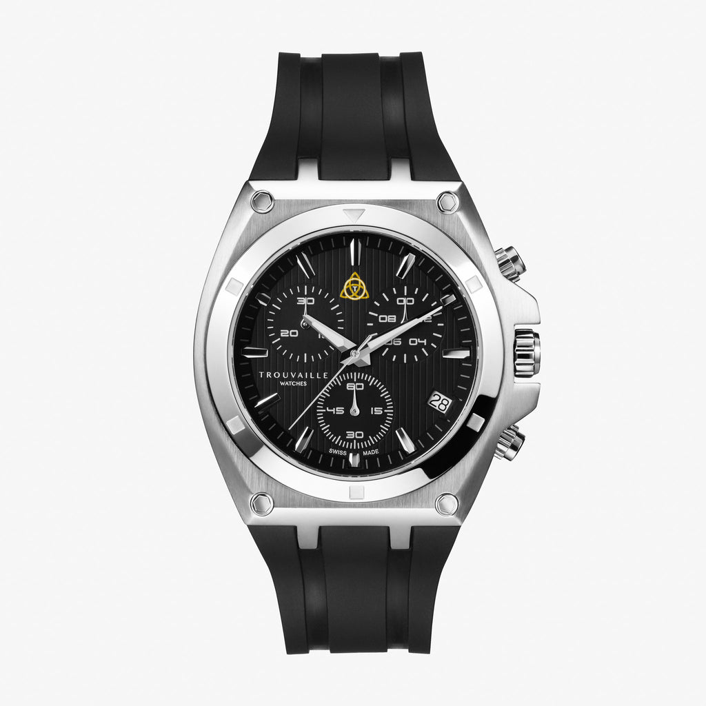 Black Deluxe Chronograph Quartz Watch
