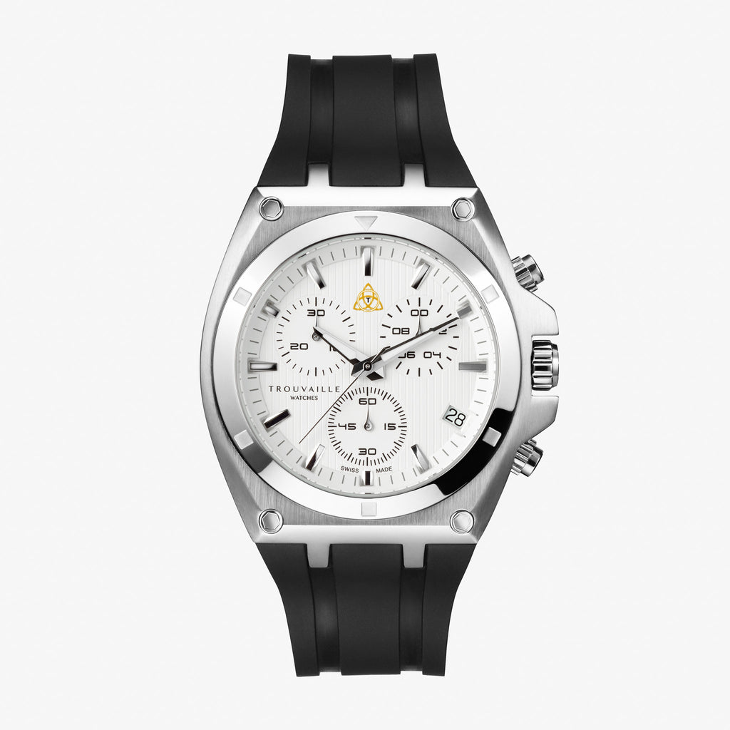 White Deluxe Chronograph Watch
