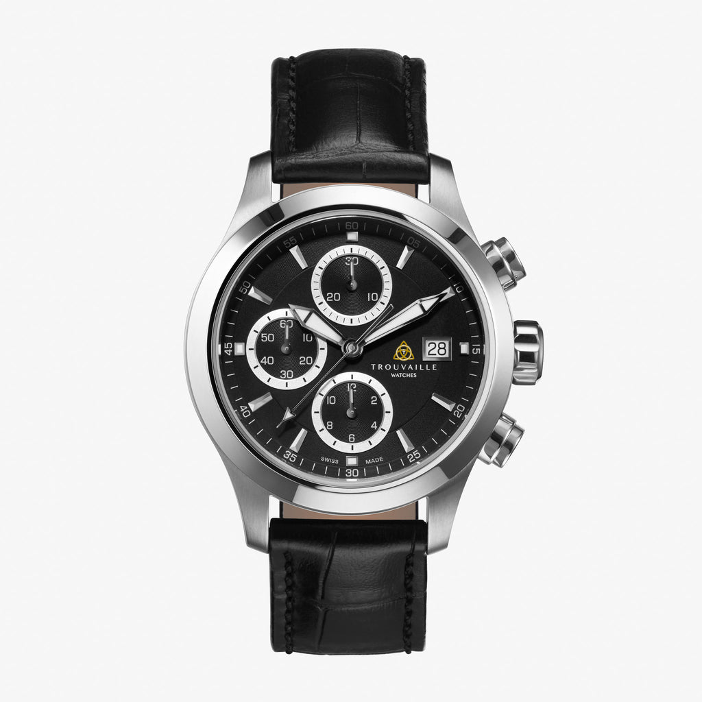 Black Pilot Chronograph Automatic Watch