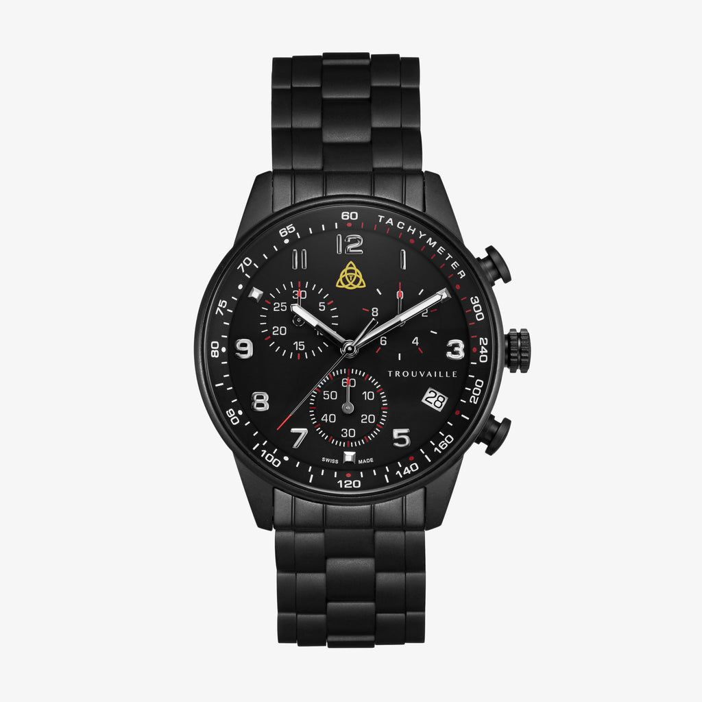 Black Aviator SS - Chronograph Watch Black Stainless Steel