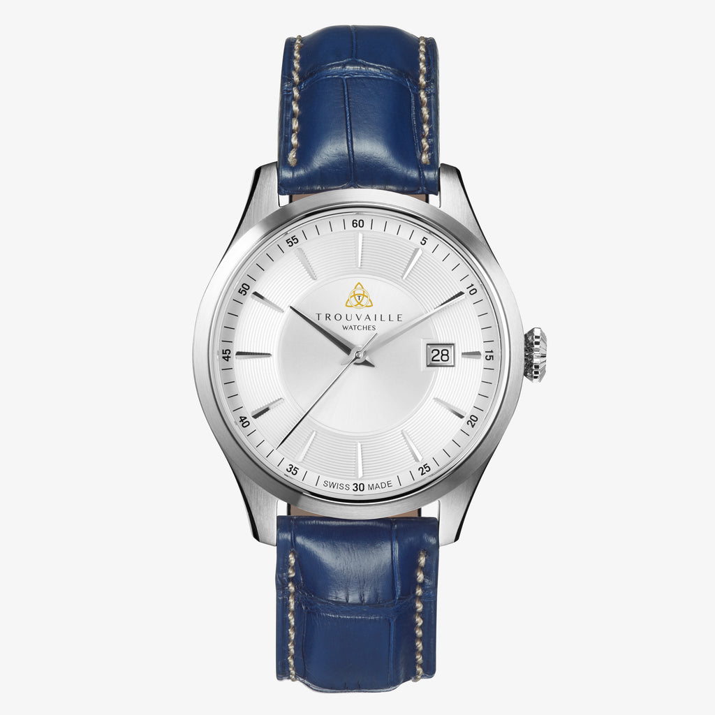 Classic Index Auto - White Dial Automatic with Blue Strap