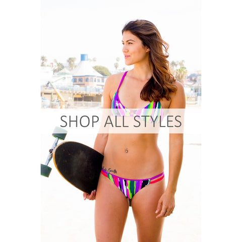 Shop All Styles - reversible athletic bikinis for beach volleyball and surfing