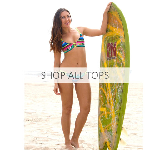 Shop All Tops - Pepper Swimwear reversible athletic bikinis for beach volleyball and surfing