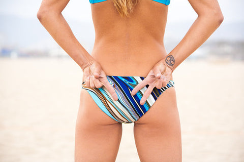 Pepper Swimwear State Bottom in Blue Stripe