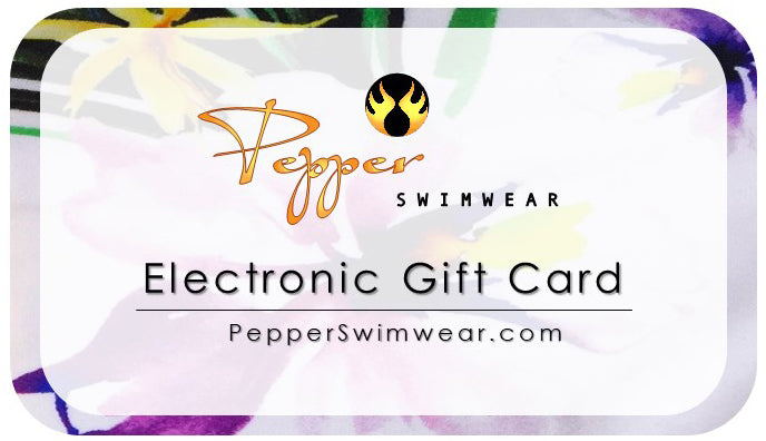 Pepper Swimwear bikini gift card gift certificate holiday shopping black friday cyber monday volleyball gift active beach lifestyle active swimwear beach volleyball athletic bikini