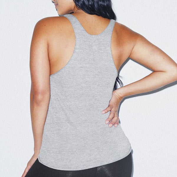 Pepper Swimwear Tri-Blend Racerback Tank Athletic Grey beach volleyball gift holiday gift idea sport tank top flattering slim fit