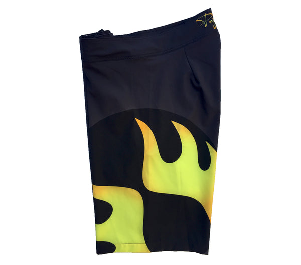 Pepper Swimwear men's boardshort 21 inch black flame logo beach volleyball surfing paddle sup volleyball gift comfortable athletic performance