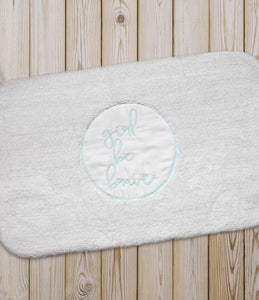 Girl Be Brave Bath Mat