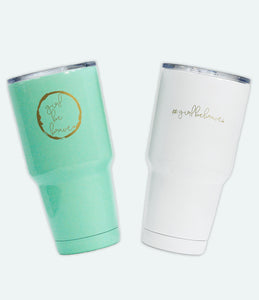 Girl be Brave Powder Coated Tumblers