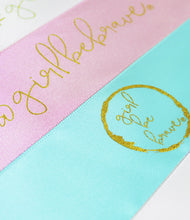 Load image into Gallery viewer, Girl Be Brave Double Faced Satin Ribbon