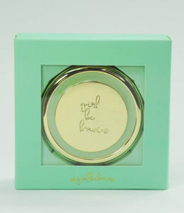 Girl Be Brave Compact Mirror
